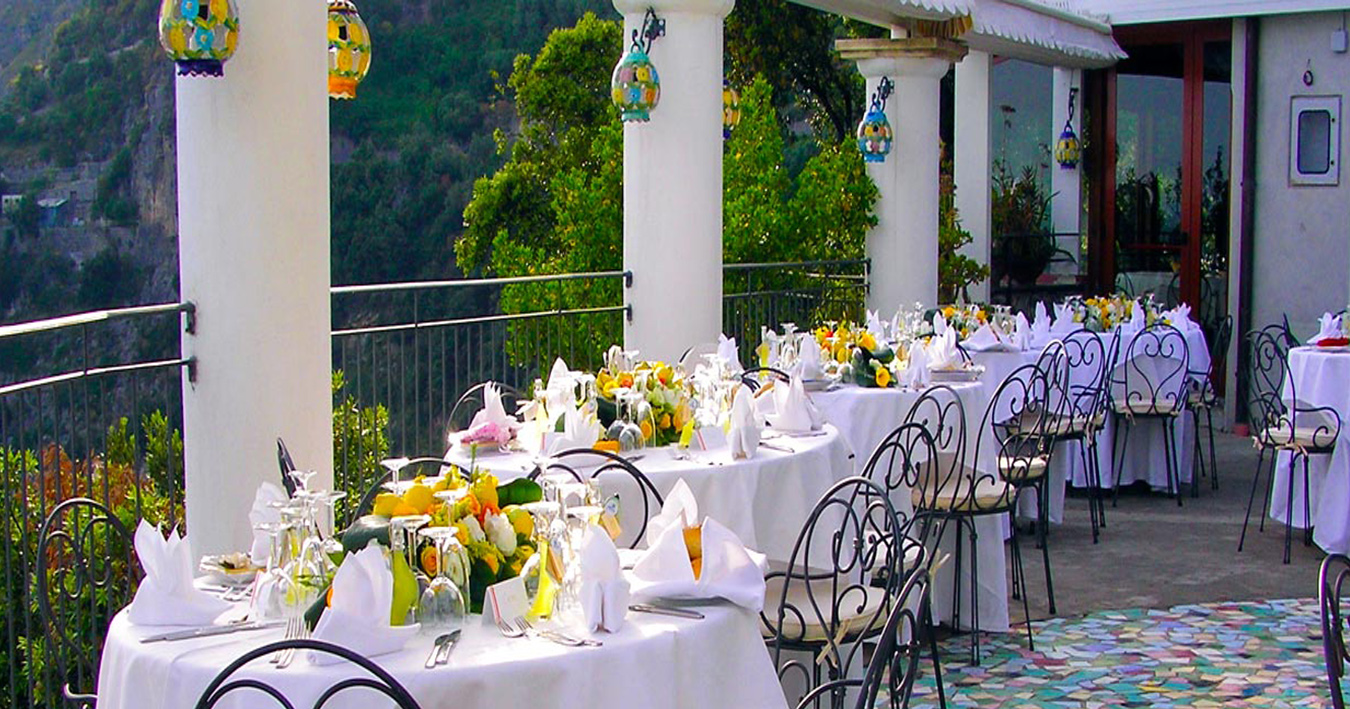 Amalfi Coast - Calajanara sea view restaurant in Amalfi Coast